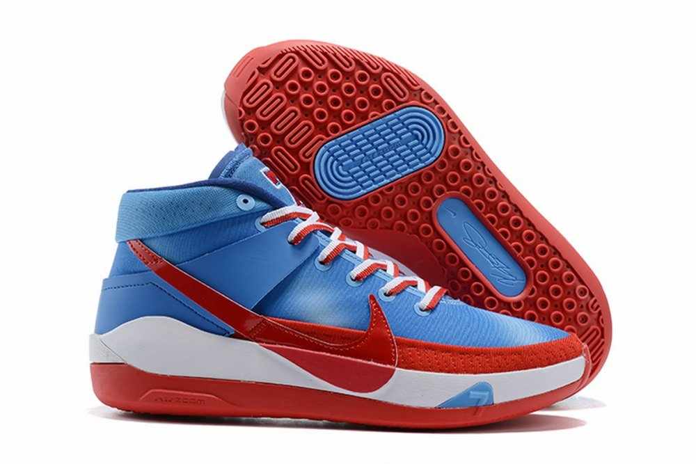 Nike KD 13 Shoes Blue Red White