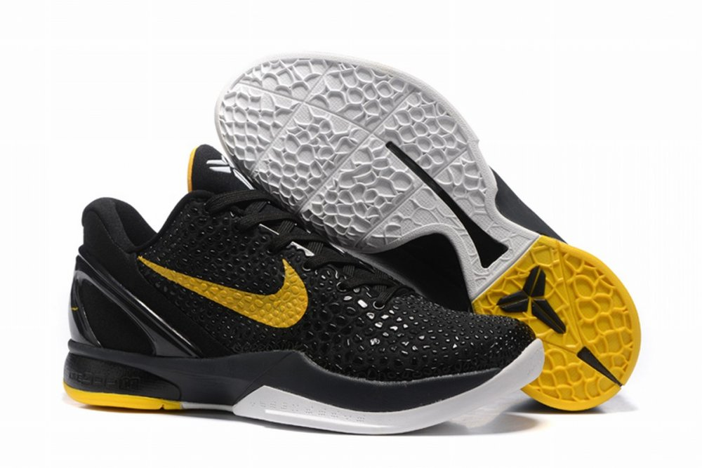 Nike Kobe 6 Men Shoes Black Yellow