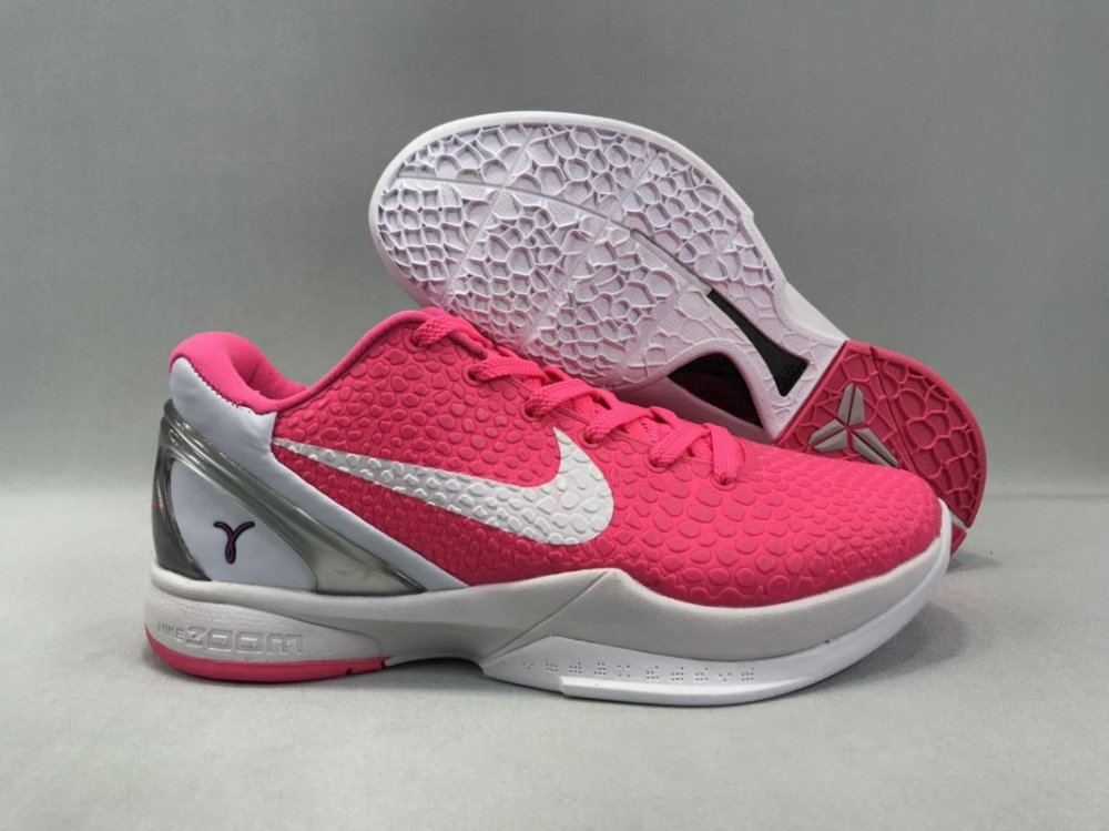 Nike Kobe 6 Men Shoes Pink White