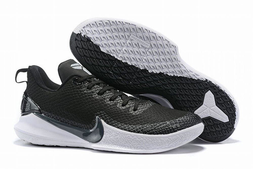 Nike Kobe Mamba Men Shoes Black White