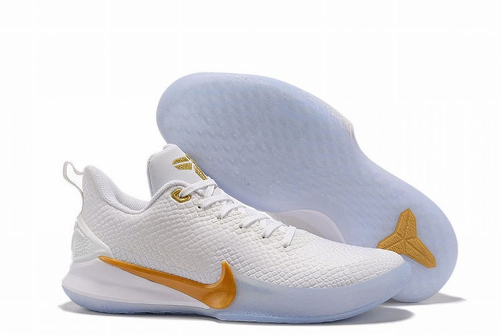 Nike Kobe Mamba Men Shoes White Gold