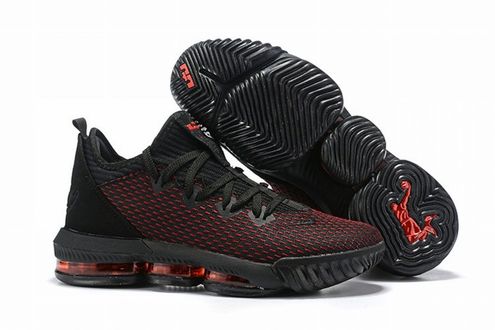 Nike Lebron James 16 Air Cushion Low Shoes Black Red