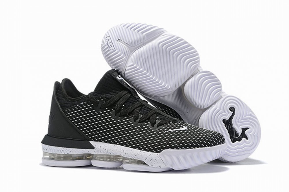 Nike Lebron James 16 Air Cushion Low Shoes Black White