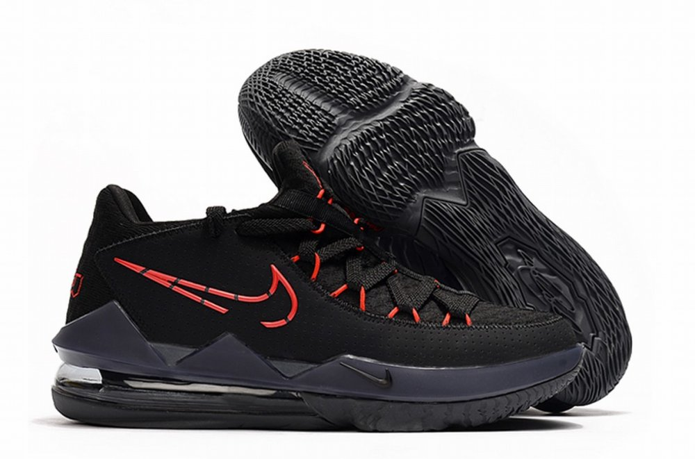 Nike Lebron James 17 Air Cushion Low Shoes Black Red