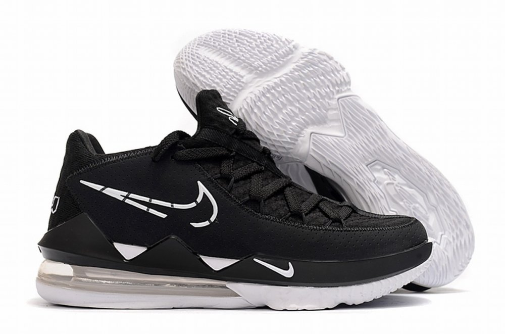 Nike Lebron James 17 Air Cushion Low Shoes Black White