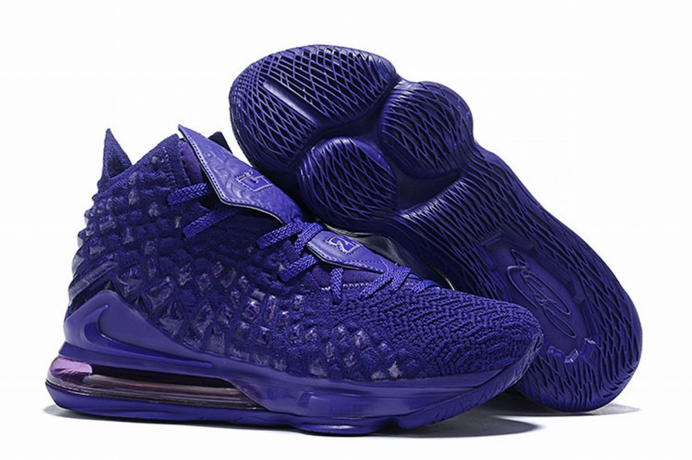 Nike Lebron James 17 Air Cushion Shoes All Purple