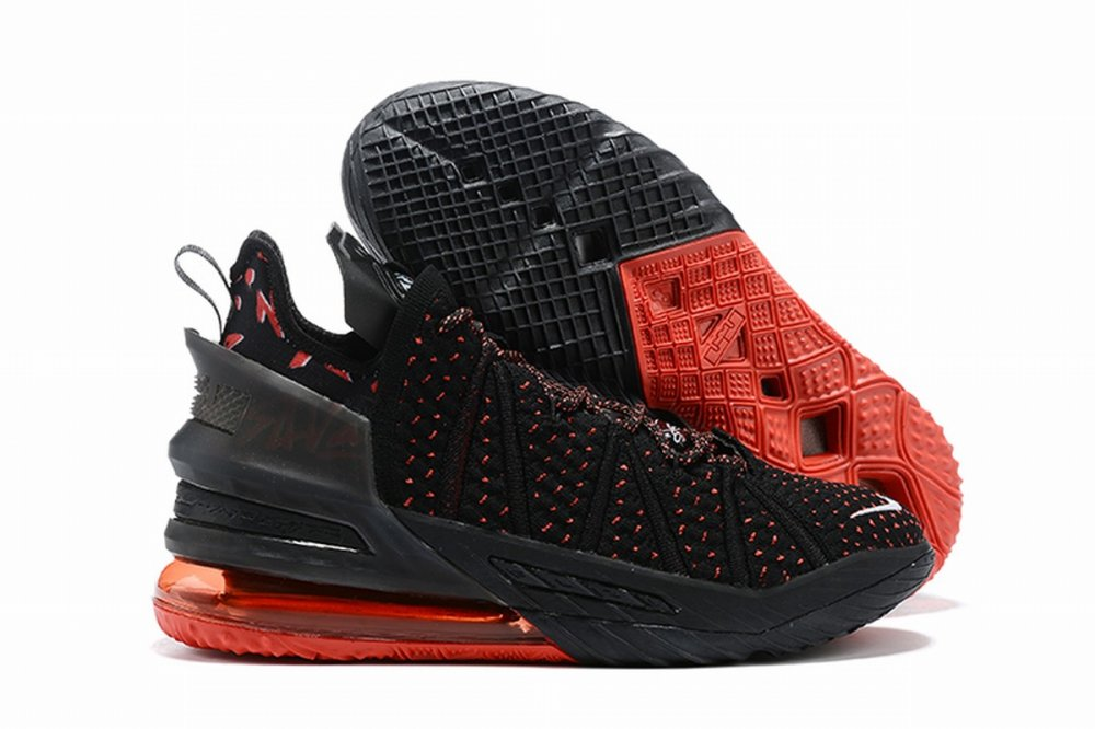Nike Lebron James 18 Air Cushion Shoes Black Red Point