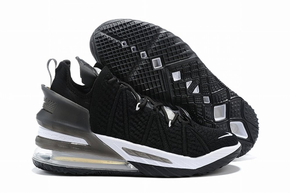 Nike Lebron James 18 Air Cushion Shoes Black White
