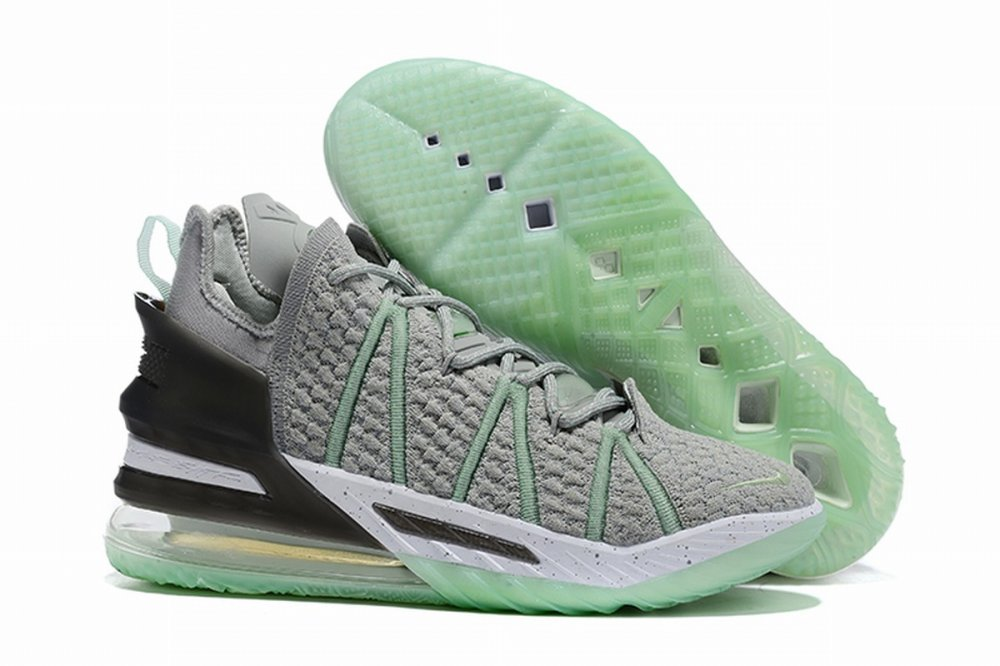 Nike Lebron James 18 Air Cushion Shoes Grey Mint Green