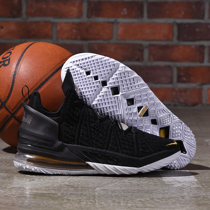Nike Lebron James 18 Air Cushion Shoes Black Gold