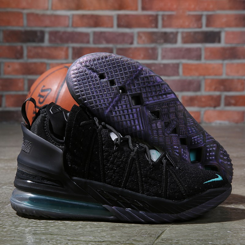 Nike Lebron James 18 Air Cushion Shoes Black Jade