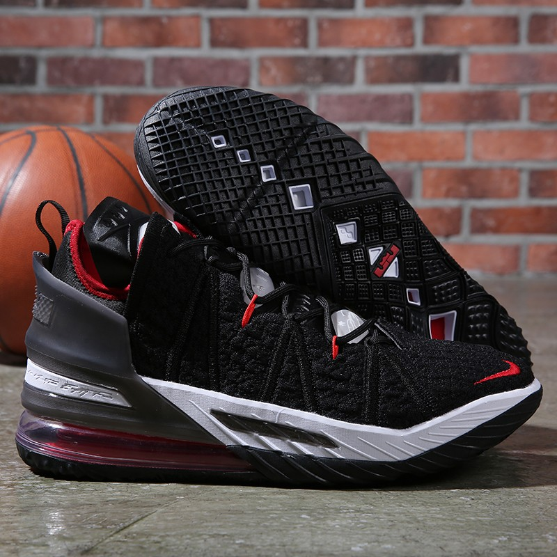Nike Lebron James 18 Air Cushion Shoes Black Red